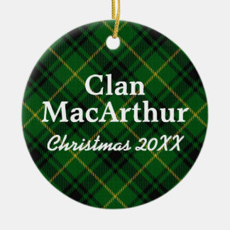 Clan MacArthur Scottish Tartan Christmas Ornament