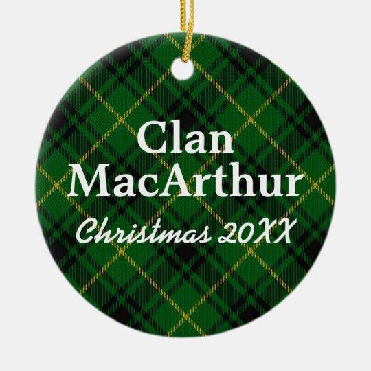 Clan MacArthur Scottish Tartan Christmas Ornament