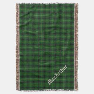 Clan MacArthur Tartan Plaid Custom Throw Blanket