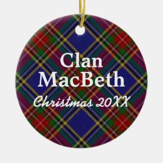 Clan MacBeth Scottish Tartan Christmas Ornament
