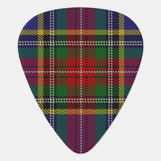 Clan MacBeth Sounds of Scotland Tartan Guitar Pick