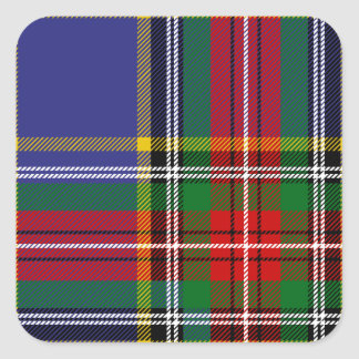 Clan MacBeth Tartan Square Sticker