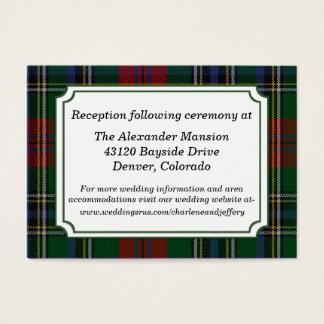 Clan MacClain Plaid Wedding Enclosure Card