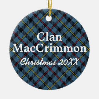 Clan MacCrimmon Scottish Tartan Christmas Ornament