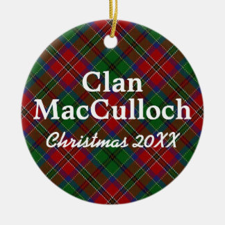 Clan MacCulloch Scottish Tartan Christmas Ornament