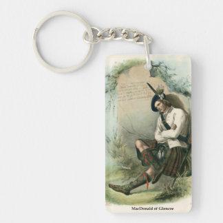 Clan MacDonald of Glencoe Single-Sided Rectangular Acrylic Key Ring