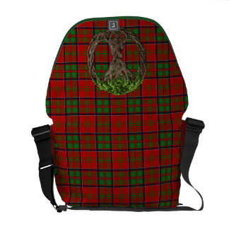 Clan MacDonald of Glencoe Tartan And Celtic Tree Commuter Bag