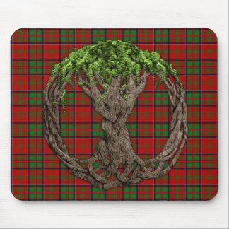 Clan MacDonald of Glencoe Tartan And Celtic Tree Mouse Pad