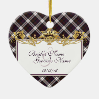 Clan MacDonald Tartan & Thistles Wedding Favor Christmas Ornament