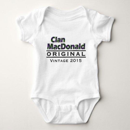 Clan MacDonald Vintage Customise Your Birthyear Baby Bodysuit