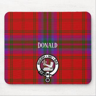 Clan MacDougall Tartan and Crest Mouse Mat