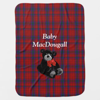Clan MacDougall Tartan Plaid Baby Blanket