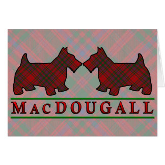 Clan MacDougall Tartan Scottie Dogs Card