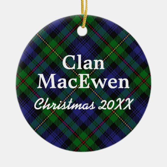 Clan MacEwen Scottish Tartan Christmas Ornament