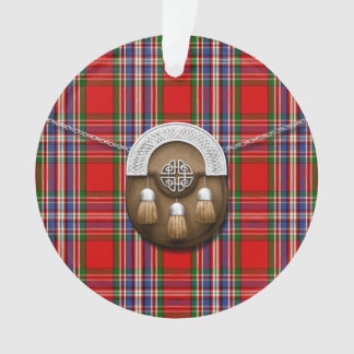 Clan MacFarlane Red Tartan And Sporran Ornament