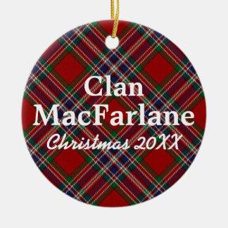 Clan MacFarlane Scottish Tartan Christmas Ornament