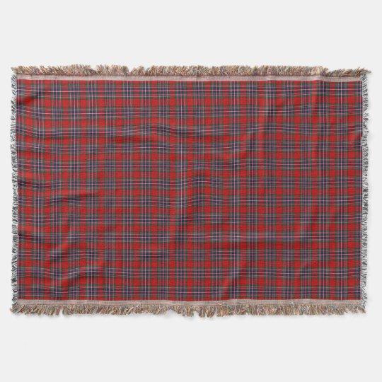 Clan MacFarlane Tartan Red and Blue Scottish Plaid