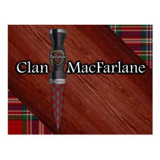 Clan MacFarlane Tartan Sgian Dubh Blade Postcard