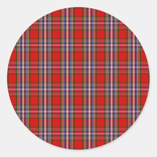 Clan MacFarlane Tartan Round Sticker