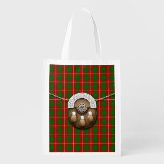 Clan MacFie Tartan And Sporran Reusable Grocery Bag