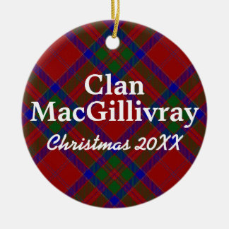 Clan MacGillivray Scottish Tartan Christmas Ornament