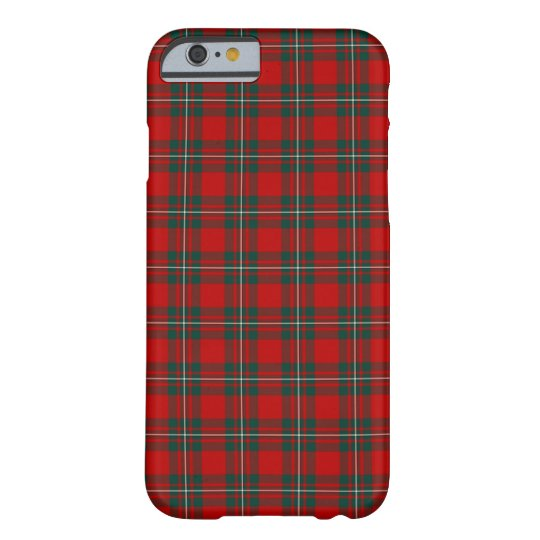 Clan MacGregor Bright Red and Forest Green Tartan Barely There iPhone 6 Case