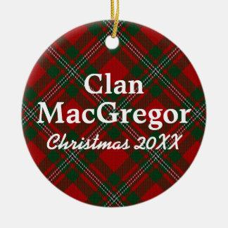 Clan MacGregor Scottish Tartan Christmas Ornament