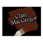 Clan MacGregor Scottish Tartan Paint Brush Postcard