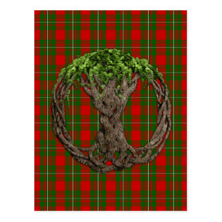 Clan MacGregor Tartan And Celtic Tree Of Life Postcard