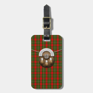 Clan MacGregor Tartan And Sporran Luggage Tag