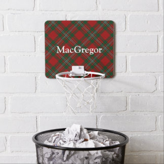 Clan MacGregor Tartan Customize Name Mini Basketball Hoop