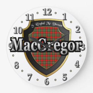 Clan MacGregor Tartan Scottish Dream Clock