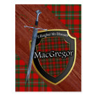 Clan MacGregor Tartan Sword & Shield Postcard