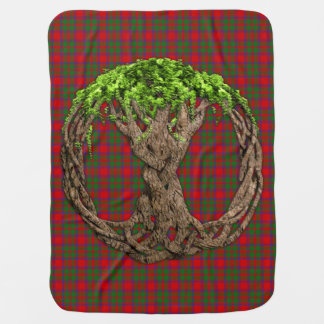 Clan MacIntosh Tartan And Celtic Tree Of Life Baby Blanket