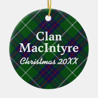 Clan MacIntyre Scottish Tartan Christmas Ornament