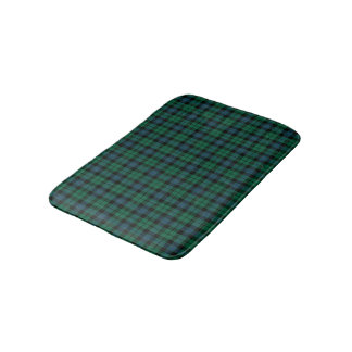 Clan MacKay Blue and Green Scottish Tartan Bath Mat