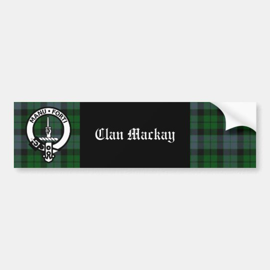 Clan Mackay Crest Badge & Tartan Bumper Sticker