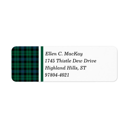 Clan MacKay Green and Blue Scottish Tartan