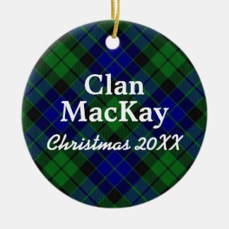 Clan MacKay Scottish Tartan Christmas Ornament