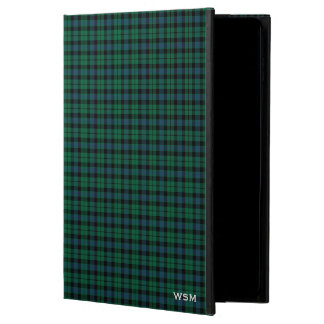 Clan MacKay Tartan Green Plaid Monogram Powis iPad Air 2 Case