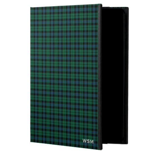 Clan MacKay Tartan Green Plaid Monogram Powis iPad