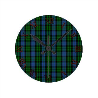 Clan MacKay Tartan Round Clock