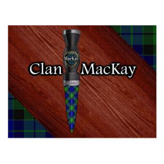 Clan MacKay Tartan Sgian Dubh Blade Postcard