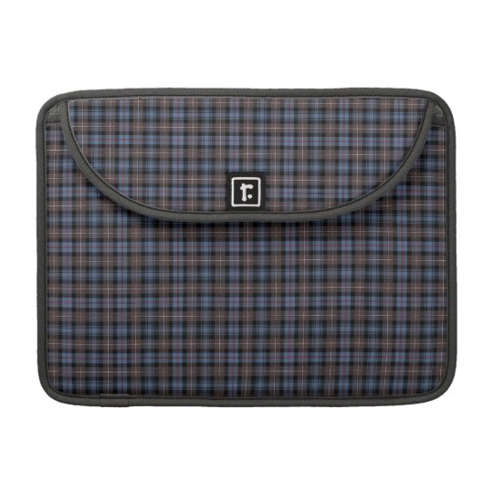 Clan Mackenzie Blue and Brown Weathered Tartan Sleeve For MacBooks