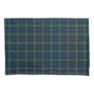 Clan Mackenzie Blue and Green Scottish Plaid Pillowcase