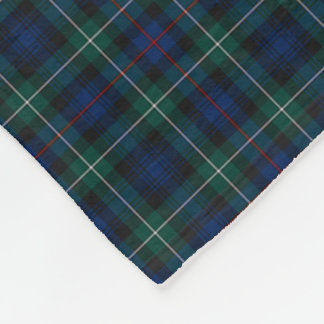Clan Mackenzie Clan Dark Blue and Green Tartan Fleece Blanket
