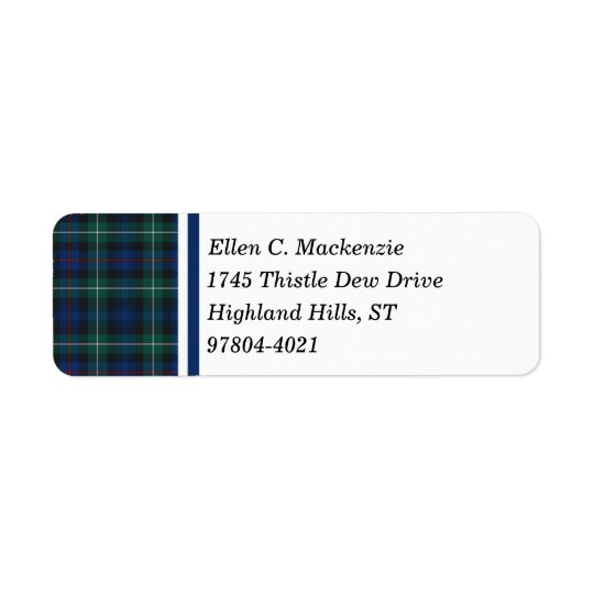 Clan Mackenzie Dark Blue and Green Scottish Tartan