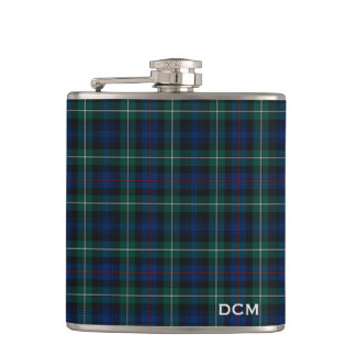 Clan Mackenzie Tartan Monogram Hip Flask