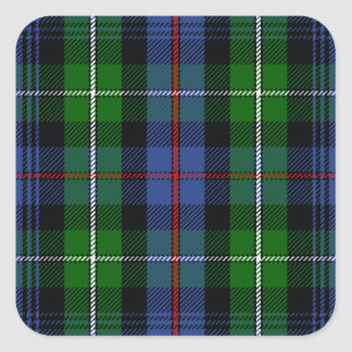 Clan MacKenzie Tartan Square Sticker