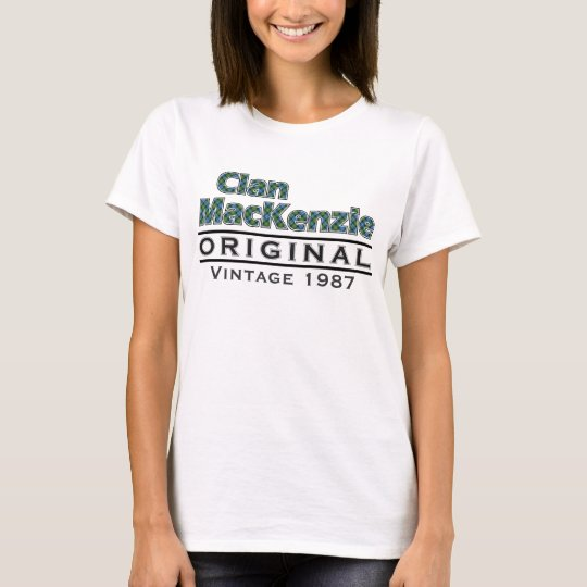 Clan MacKenzie Vintage Customise Your Birthyear T-Shirt